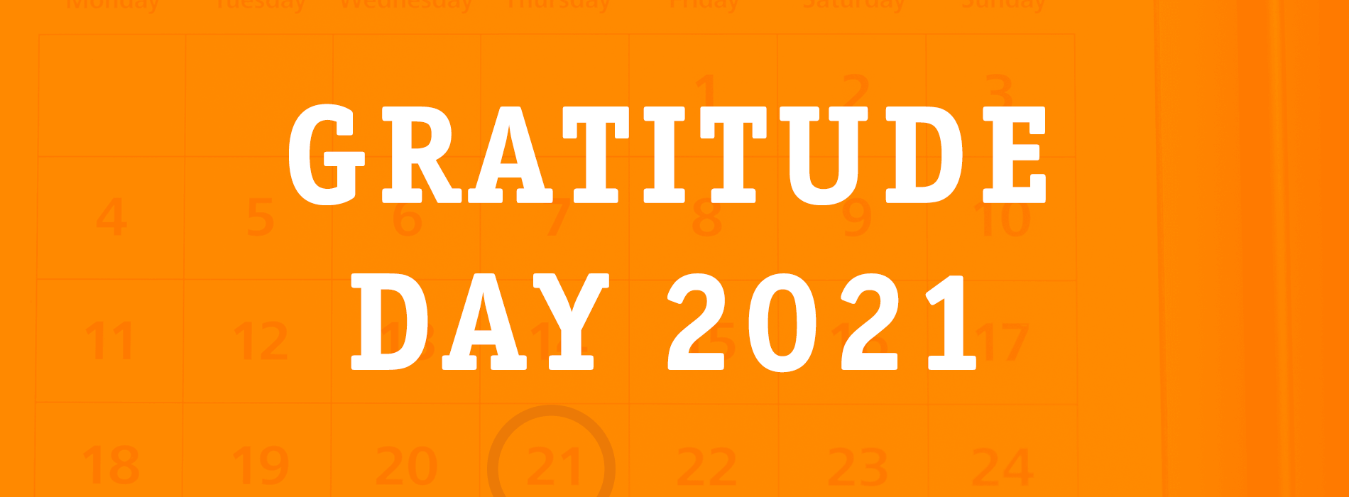 Back to our roots and hosting a gratitude contest