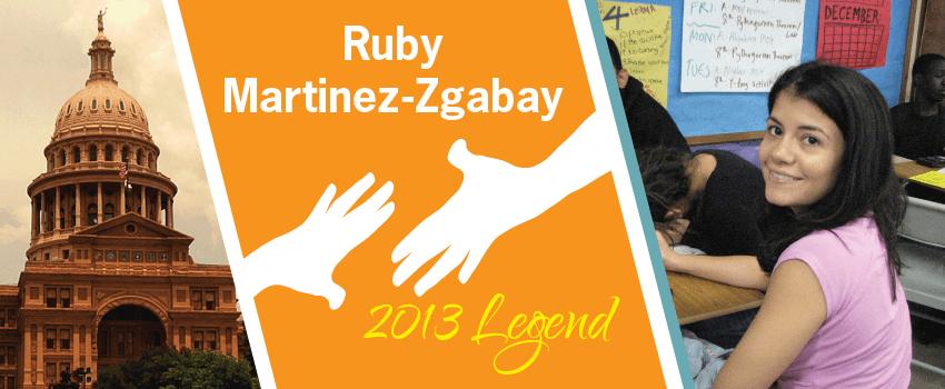 Ruby Martinez Zgabay Legend Header