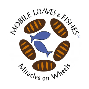 Mobile Leaves and Fishes Logo