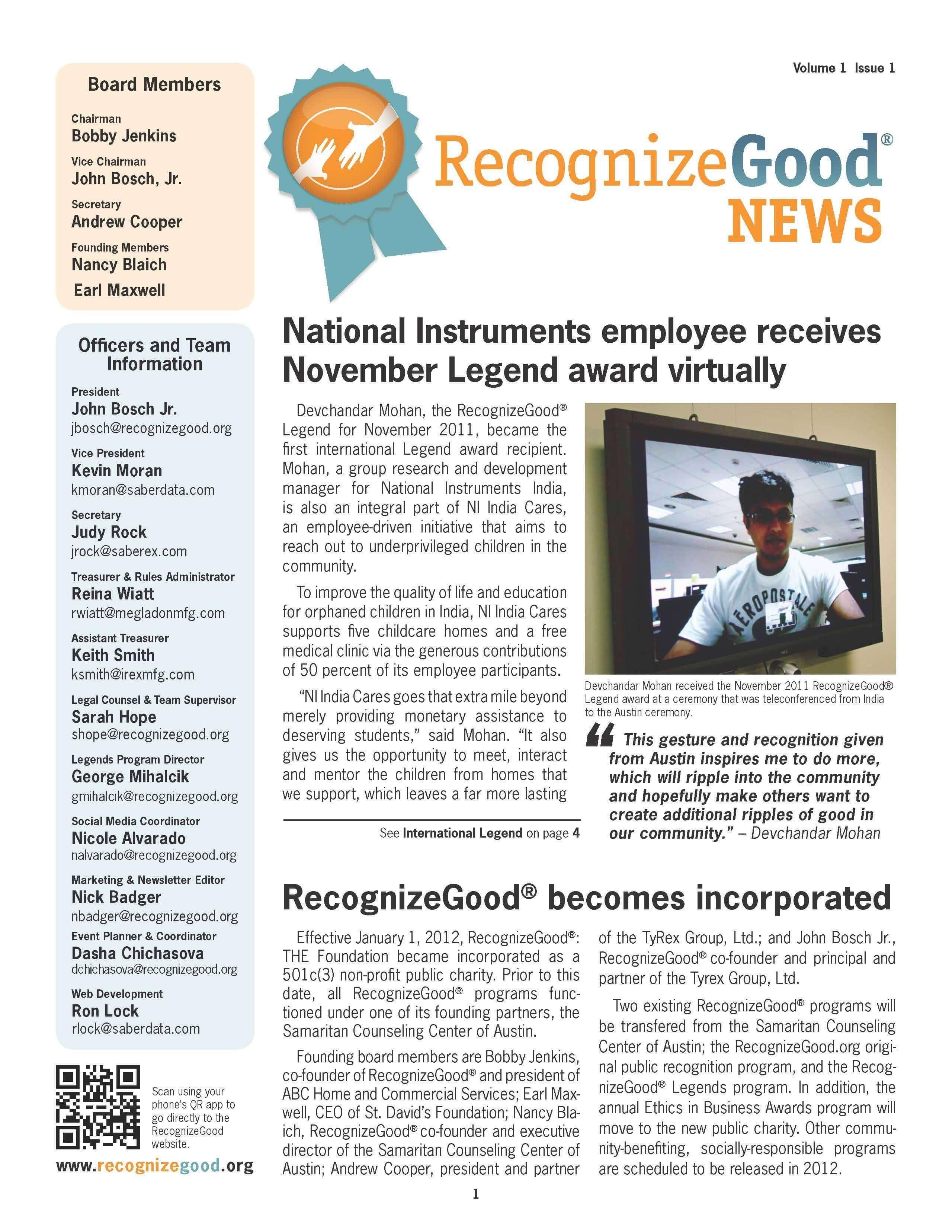 Newsletter Q1 (2011)