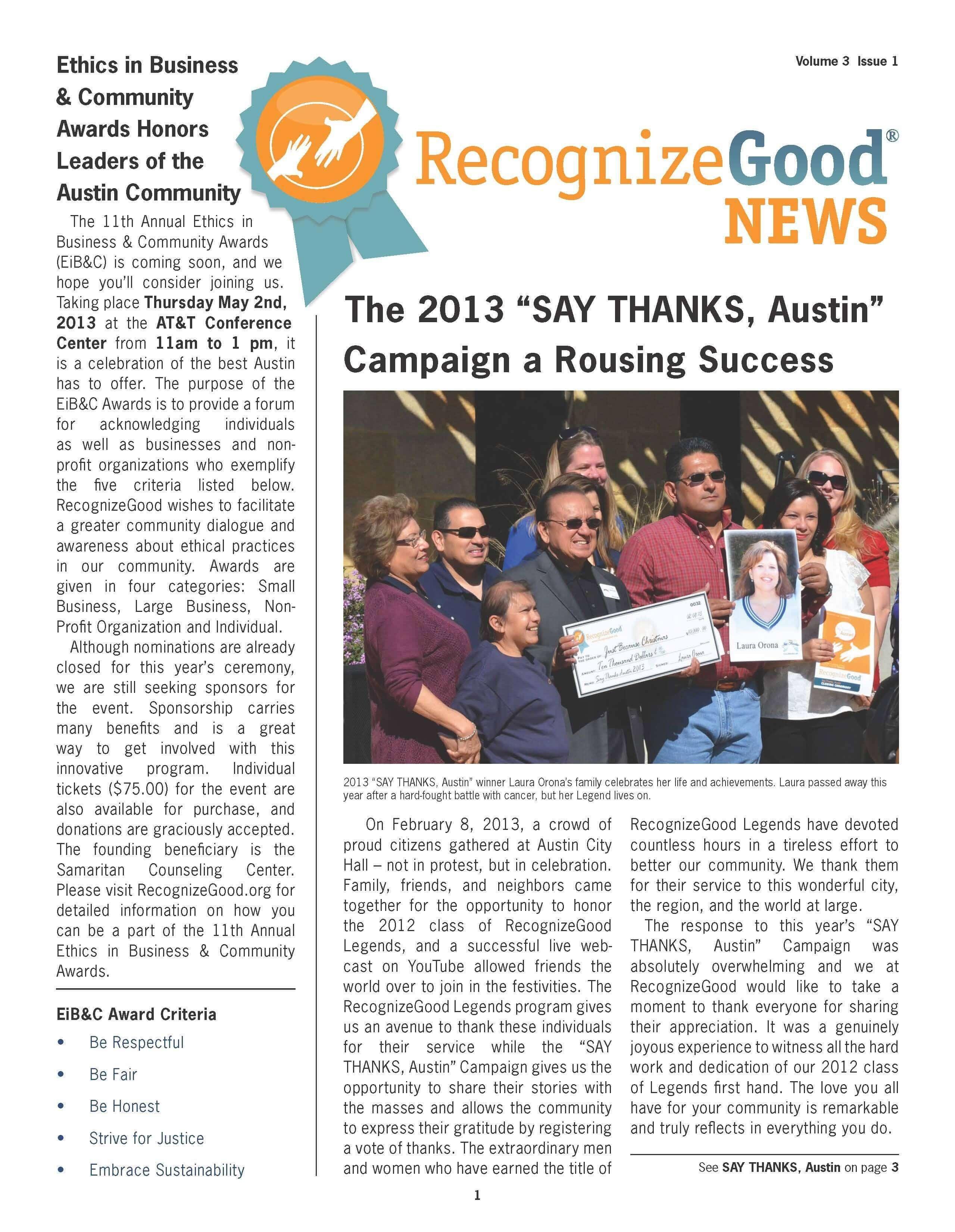 Newsletter Q1 (2013)
