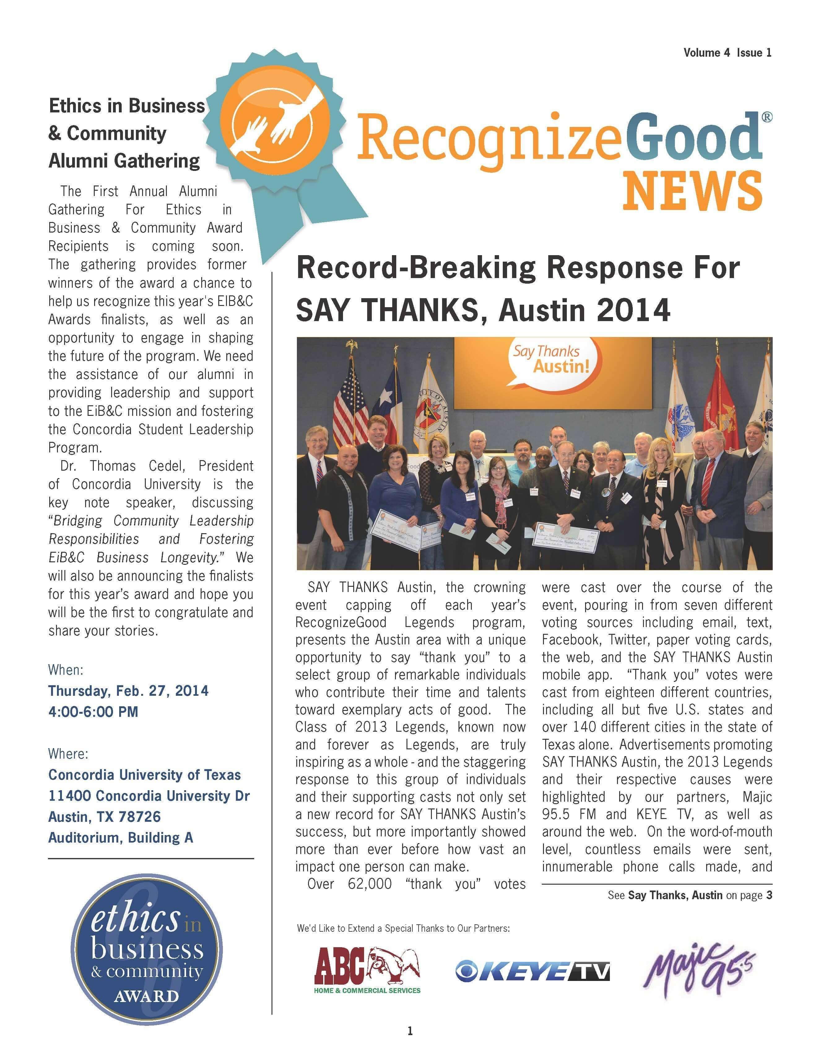 Newsletter Q1 (2014)