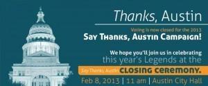 Say Thanks Austin 2013